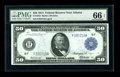Fr. 1044 $50 1914 Federal Reserve Note PMG Gem Uncirculated 66 EPQ. Originally embossed Gem $50 Feds are a rare breed, a...