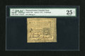 Colonial Notes:Pennsylvania, Pennsylvania April 3, 1772 2s PMG Very Fine 25 Net....