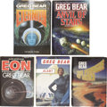 Books:First Editions, Greg Bear. Five Science-Fiction First Editions,... (Total: 5 Items)