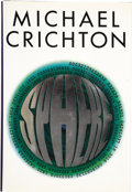 Books:First Editions, Michael Crichton. Sphere. New York: Alfred A. Knopf, 1987.....