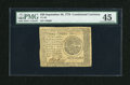 Colonial Notes:Continental Congress Issues, Continental Currency September 26, 1778 $20 PMG Choice ExtremelyFine 45....