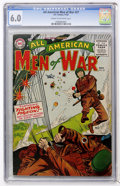 Golden Age (1938-1955):War, All-American Men of War #27 (DC, 1955) CGC FN 6.0 Cream tooff-white pages....