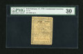 Colonial Notes:Continental Congress Issues, Continental Currency February 17, 1776 $1/6 PMG Very Fine 30....