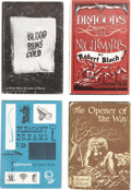 Books:Signed Editions, Robert Bloch. Four First Editions, One Signed,... (Total: 4 Items)