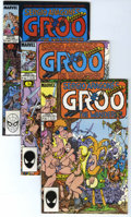 Modern Age (1980-Present):Humor, Groo the Wanderer Group (Marvel, 1985-94) Condition: AverageNM-.... (Total: 15 Comic Books)