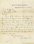 Autographs:U.S. Presidents, James A. Garfield Letter Signed... (Total: 2 Items)