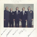 Autographs:Military Figures, Five Army Chiefs of Staff Signed Photo....