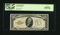 Small Size:Gold Certificates, Fr. 2400 $10 1928 Gold Certificate. PCGS Very Fine 35PPQ.. ...