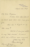 Autographs:U.S. Presidents, Grover Cleveland Autograph Letter Signed ... (Total: 2 Items)