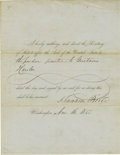 Autographs:U.S. Presidents, Franklin Pierce Signed Pardon...