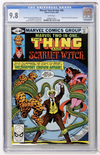 Marvel Two-In-One #66 The Thing and Scarlet Witch (Marvel, 1980) CGC NM/MT 9.8 White pages
