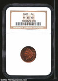 Proof Indian Cents: , 1883 1C PR65 Red NGC. Lovely orange and cherry-red hues ...