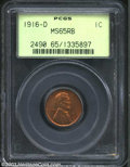 Lincoln Cents: , 1916-D 1C MS65 Red and Brown PCGS. Closer to Red than ...