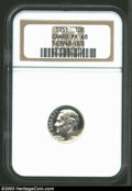 Proof Roosevelt Dimes: , 1951 10C PR68 Cameo NGC. The ice-white surfaces allow ...