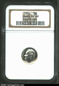 Proof Roosevelt Dimes: , 1956 10C PR69 Cameo NGC. With no toning to report, this ...
