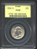 Washington Quarters: , 1932-S 25C MS60 PCGS. Well struck and nicely preserved, ...