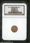 Commemorative Gold: , 1917 G$1 McKinley MS65 NGC. Wonderful pumpkin and ...