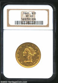 Liberty Eagles: , 1840 $10 XF45 NGC. Nicely detailed for the grade, with ...