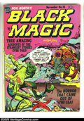 Golden Age (1938-1955):Horror, Black Magic #18 (Prize, 1952) Condition: VF. Creepy, brightlycolored Jack Kirby cover. Very white pages. Overstreet 2003 VF...