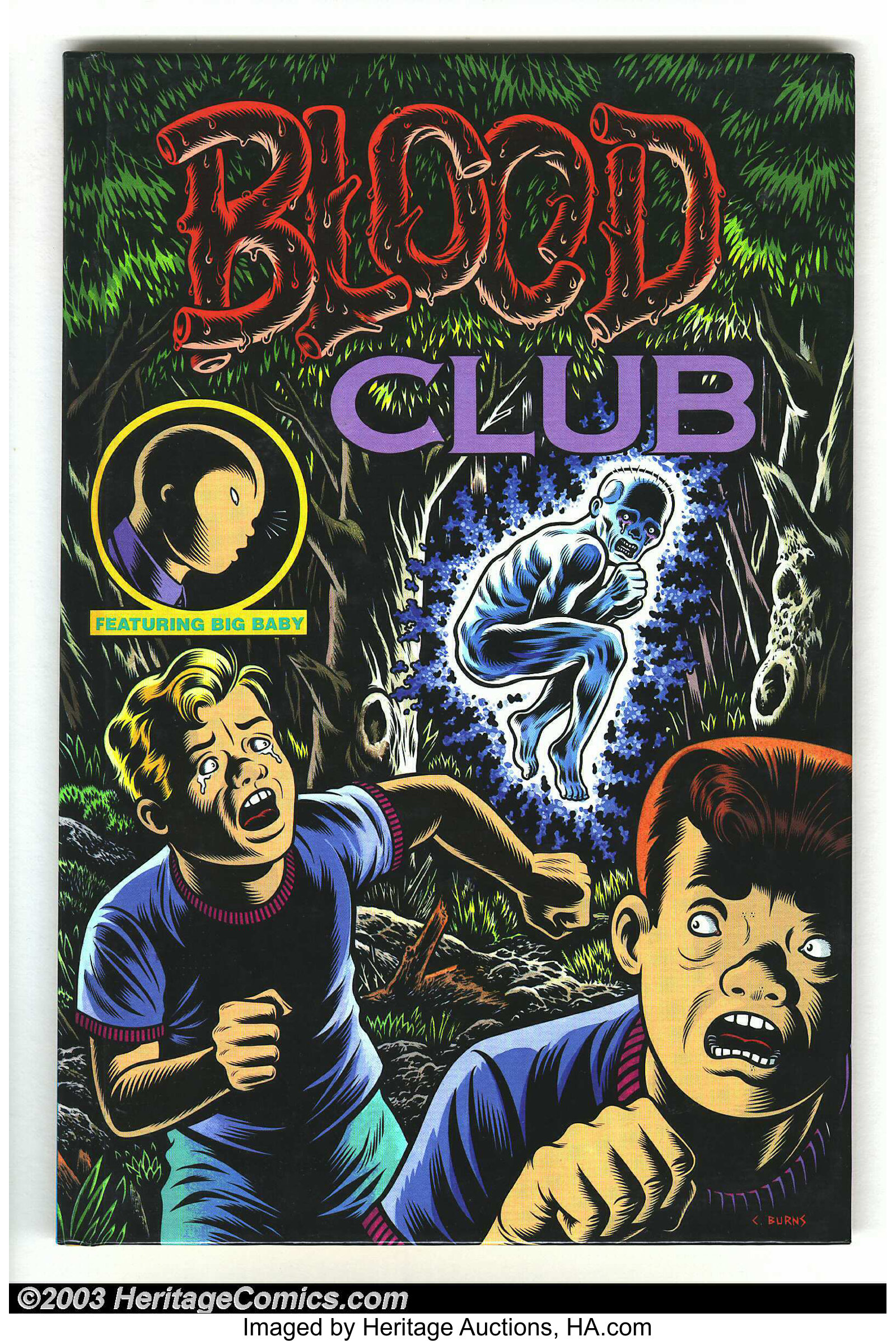Blood Club Hardback Signed Kitchen Sink Press 1992 Condition