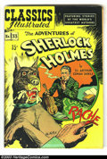 Golden Age (1938-1955):Classics Illustrated, Classics Illustrated #33 HRN 71 Adventures of Sherlock Holmes (Gilberton, 1947) Condition: FN+. They only made a few printin...