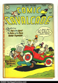 "Golden Age (1938-1955):Funny Animal, Comic Cavalcade #49 (DC, 1952) Condition: FN. This book looks VF/NMwith white pages, but there is a 1"" split at the top of ..."