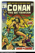 Bronze Age (1970-1979):Miscellaneous, Conan The Barbarian #1 (Marvel, 1970) Condition: VF. Firstappearance by Barry Smith. Overstreet 2003 VF 8.0 value = $181....