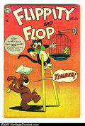 Golden Age (1938-1955):Funny Animal, Flippity and Flop #19 (DC, 1954) Condition: FN+. Very obscureMid-1950s title. Overstreet 2003 FN 6.0 value = $30. Fromth...