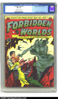 Golden Age (1938-1955):Science Fiction, Forbidden Worlds #1 (ACG, 1951) CGC FN+ 6.5 Off-white to whitepages. Williamson and Frazetta art. Overstreet 2003 FN 6.0 va...