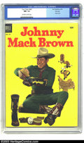 Golden Age (1938-1955):Western, Four Color #541 Johnny Mack Brown - File Copy (Dell, 1954) CGC NM- 9.2 Off-white to white pages. Photo cover. Overstreet 200...