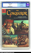 "Silver Age (1956-1969):Adventure, Four Color #690 ""The Conqueror"" (Dell, 1956) CGC VF+ Off-white pages. John Wayne photo cover. Movie adaptation. Overstreet 2..."