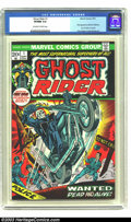 Bronze Age (1970-1979):Horror, Ghost Rider #1 (Marvel, 1973) CGC VF/NM 9.0 Off-white to whitepages. First appearance Daimon Hellstrom, Son of Satan in cam...
