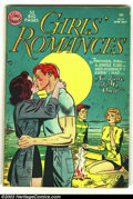 Golden Age (1938-1955):Romance, Girls' Romances #9 (DC, 1951) Condition: VG+. Cool earl issue ofthis classic Romance title. Overstreet 2003 VG 4.0 value = ...