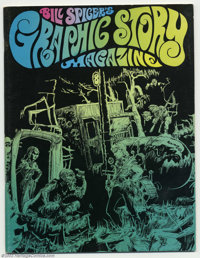 Graphic Story Magazine Group Lot 8, 9, & 11 (Bill Spicer, 1971) Average Condition = FN. An interview with Charles Bi...