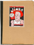 Modern Age (1980-Present):Alternative/Underground, Jimbo #1 (RAW, 1982) Condition of Outer Cover = VG+; Interior = NM.This neat RAW one-shot was written by Gary Panter with a...