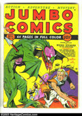 Golden Age (1938-1955):Science Fiction, Jumbo Comics #10 (Fiction House, 1939) Condition: GD+. Lou Fineshows his mastery on this classic cover as he draws an alien...