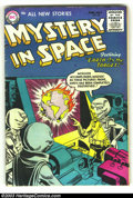 Golden Age (1938-1955):Science Fiction, Mystery in Space #26 (DC, 1955) Condition: VG-. Another classicmid-1950s DC Science Fiction image. Space Cabbie features be...
