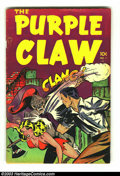 Golden Age (1938-1955):Horror, Purple Claw #1 (Minoan Publishing Co., 1953) Condition: FN. Origin.Overstreet 2003 FN 6.0 value = $99....