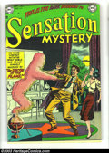 Golden Age (1938-1955):Horror, Sensation Mystery #111 (DC, 1952) Condition: VF-. All issues fromthis title are fairly rare, and Heritage has never before ...