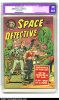 "Golden Age (1938-1955):Science Fiction, Space Detective #2 (Avon, 1951) CGC Apparent VF+ 8.5 Slight (A)Off-white to white pages. CGC notes: ""Restoration includes: ..."