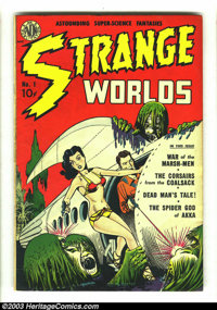 Strange Worlds #1 (Avon, 1950) Condition: FN+. Kenton of the Star Patrol by Joe Kubert. Crom the Barbarian by Giunta. Ov...