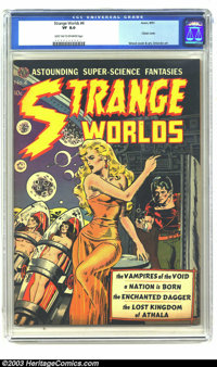 Strange Worlds #4 (Avon, 1951) CGC VF 8.0 Light tan to off-white pages. Classic Wally Wood cover and art, Orlando art; t...