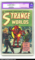 "Golden Age (1938-1955):Horror, Strange Worlds #6 (Avon, 1952) CGC Apparent VF- 7.5 Slight (P)Off-white to white pages. CGC notes: ""Restoration includes: t..."