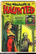 Golden Age (1938-1955):Horror, This Magazine Is Haunted #5 (Fawcett, 1952) Condition: GD/VG.George Evans artwork. Overstreet 2003 GD 2.0 value = $43; VG 4...