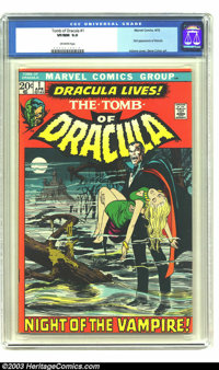 Tomb of Dracula #1 (Marvel, 1972) CGC VF/NM 9.0 Off-white pages. First appearance of Dracula; Neal Adams cover, Gene Col...