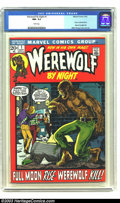Bronze Age (1970-1979):Horror, Werewolf by Night #1 (Marvel, 1972) CGC NM- 9.2 White pages. Storycontinued from Marvel Spotlight #4; Mike Ploog cover and ...