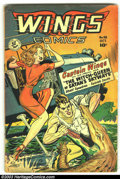 Golden Age (1938-1955):War, Wings Comics Group of #98, 99, 104 and 106(Fiction House, 1941) Condition: Average GD/VG. Very cool group lot of this fantas... (Total: 4 Comic Books Item)