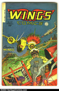 Golden Age (1938-1955):War, Wings Comics Group of #110, 111 and 114-116 (Fiction House, 1941)Condition: Average GD/VG. Very cool group lot of this fant...(Total: 5 Comic Books Item)