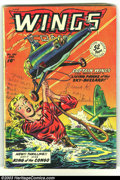 Golden Age (1938-1955):War, Wings Comics Group of #100 and #113 (Fiction House, 1940s)Condition: Average GD+. Overstreet 2003 value for group = $50....(Total: 2 Comic Books Item)