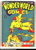 Golden Age (1938-1955):Superhero, WonderWorld Comics #25 (Fox, 1941) Condition: VG. Fantastic Flame cover. Heritage has never before offered this issue for sa...